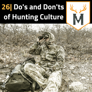 Cover photo for this episode. Shows Colby glassing for elk on a late season bow hunt.